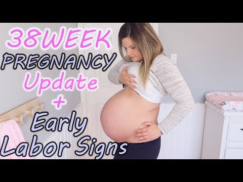 EARLY LABOR SIGNS + SYMPTOMS| 38 WEEK PREGNANCY UPDATE - YouTube