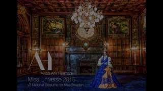 World reveal - National Costume for Miss Universe Sweden 2015 - Paulina Brodd