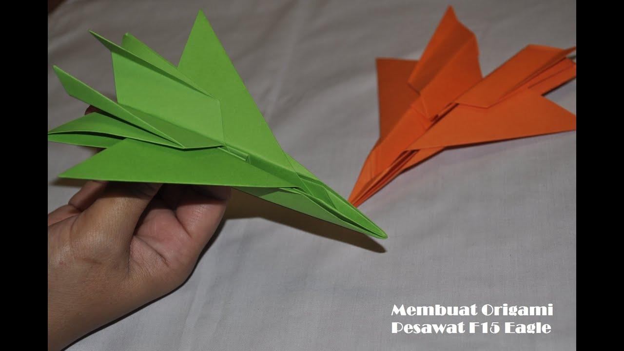 Cara membuat origami pesawat F15 jet Eagle Fighter ... - photo#11