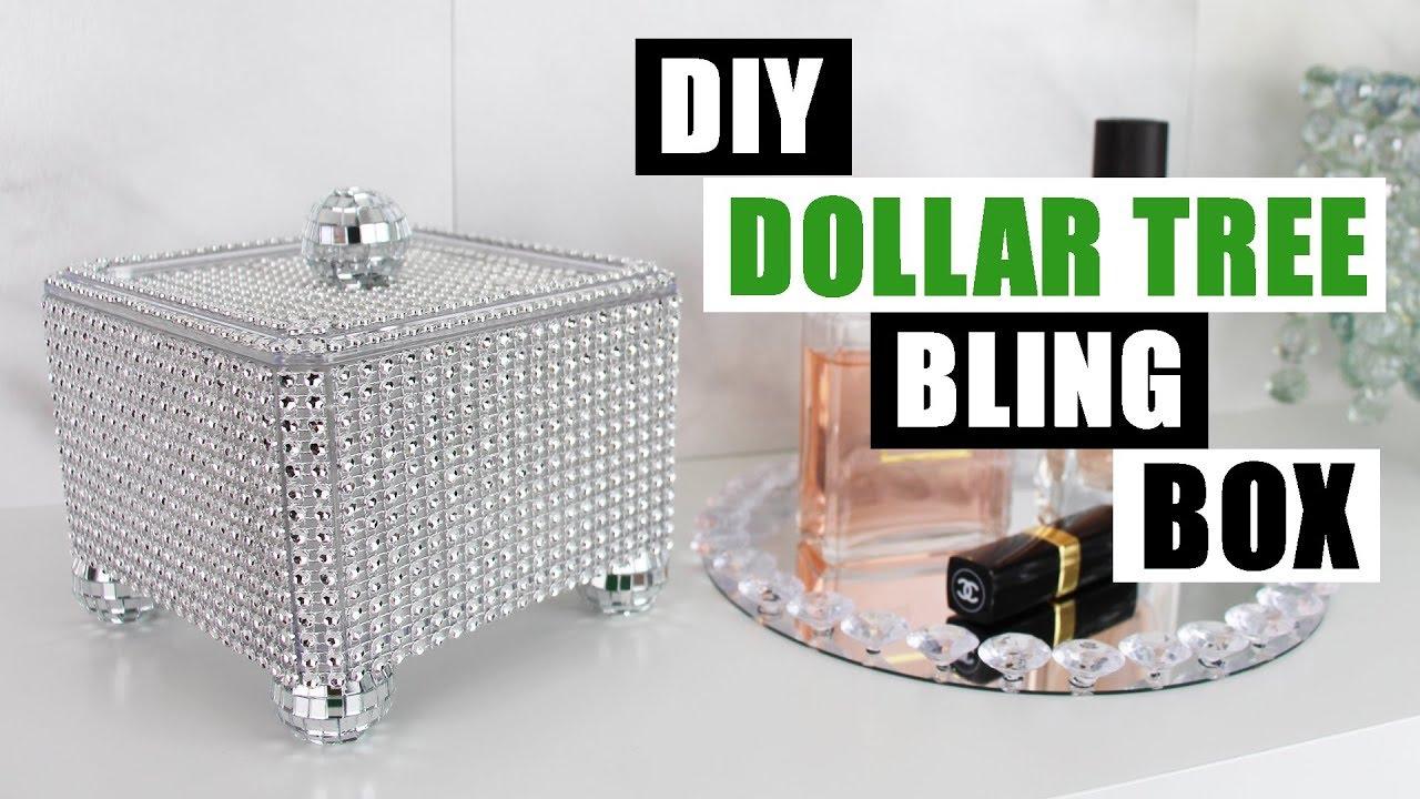 DIY DOLLAR TREE BLING STORAGE BOX DIY Glam Home Decor
