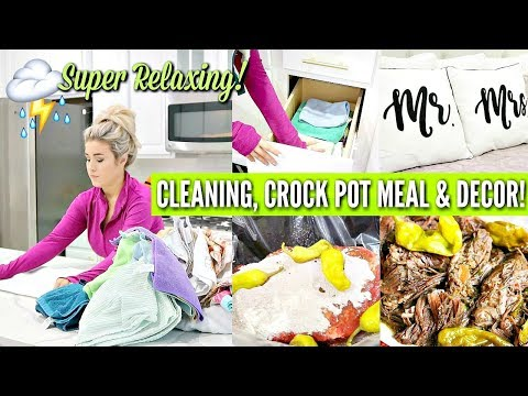 ⛈ RELAXING ULTIMATE CLEAN WITH ME 2019 | ALL DAY CLEANING MOTIVATION w CLEANING MUSIC | Love Meg