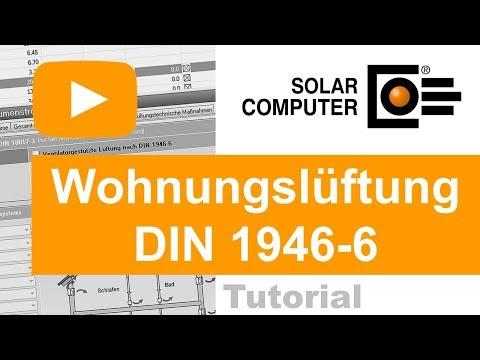 SOLAR-COMPUTER Wohnungslüftung DIN 1946-6