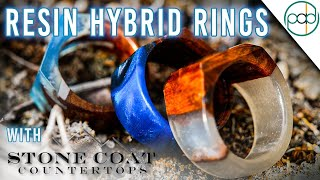 Making Wood and Resin Hybrid Rings with Stone Coat Countertops