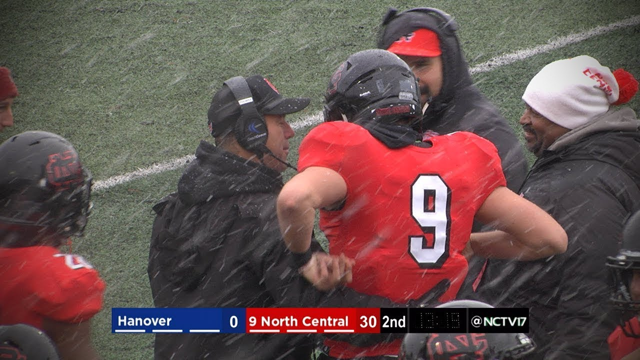 North Central College Football Vs Hanover 11 17 18 Youtube