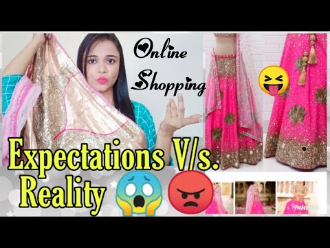 Expectations V/s. Reality of Online Shopping Lehenga | FAIL OR PASS ?
