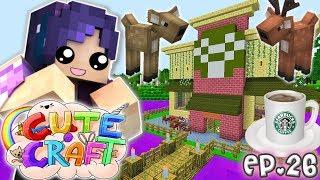 Deer Queen's StarBUCKS | CuteCraft Minecraft SMP - Ep. 26