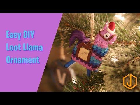 Easy DIY Llama Ornament from Fortnite