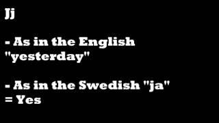 Learning Swedish for Beginners #1 - the Swedish Alphabet