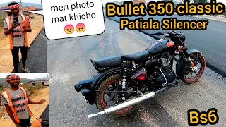 Bullet Classic 350 Power Test || Patiala Silencer || Bs6 || Stealth Black ||