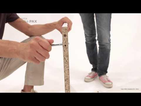 Pax Ballstad Guardaroba Angolare.Video Tutorial Montaggio Armadio Pax Di Ikea Youtube