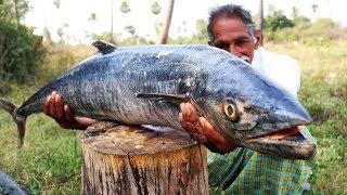 Giant Sea fish curry | World Biggest Fish Curry | How to cook Giant Fish Recipe | Grandpa Kitchen