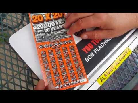 $20,000 A WK. FO' 20 YRS. | SCRATCHCARD WIN!!!