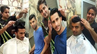 Hassan Ali and Shadab Khan Hair Cut Before Pakistan vs Sri Lanka T20 Final Match at Lahore