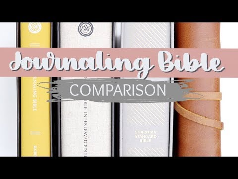 Bible Journaling for Beginners: Choosing a Journaling Bible