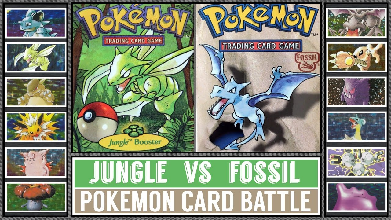 Pokémon Card Battle | JUNGLE vs FOSSIL