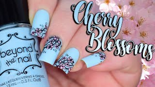 Spring Cherry Blossoms | Reverse Stamping