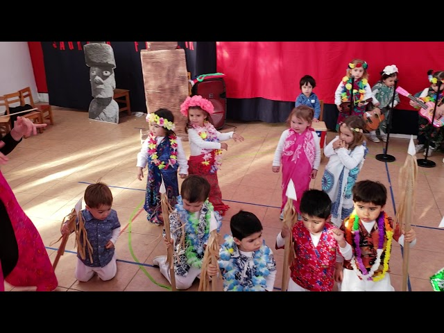 Baile Rapa Nui 2018, Sala roja mañana.