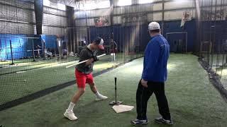Winter Batting Practice Sean Lynch and Johnny Hipsman
