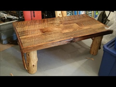 100 Year Old Barn Boards Coffee Table Set Rustic Beauty