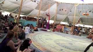Guitar Looping & Aerial Dance at Burning Man Through Google Glass