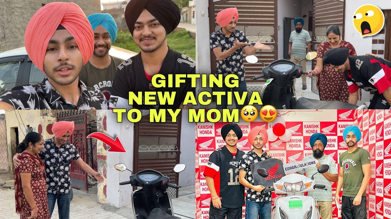 New Activa Gift Krn Te Mom Da Reaction Dekho 🥺 *Surprise Emotional Reaction*