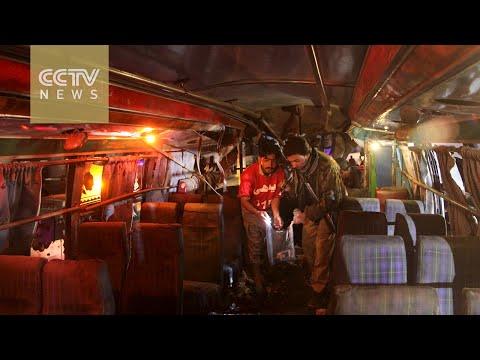 11 killed as bomb hits passenger bus in southwest Pakistan