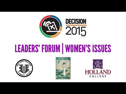 Decision P.E.I. 2015 - Leaders' Forum on Women's Issues