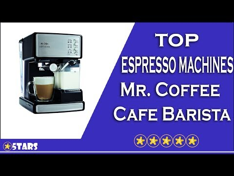TOP ESPRESSO MACHINES 2017 - Mr. Coffee BVMC-ECMP1000-RB Cafe Barista Espresso Maker Machine Review