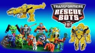 Transformers toys Rescue Bots Bumblebee Dinobots dinosaur robots Season 3