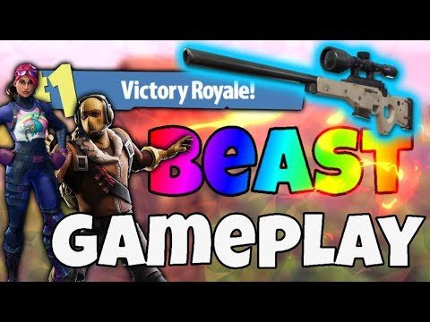 EPIC SOLO WIN AND BEAST PLAYS (fortnite: battle royale)