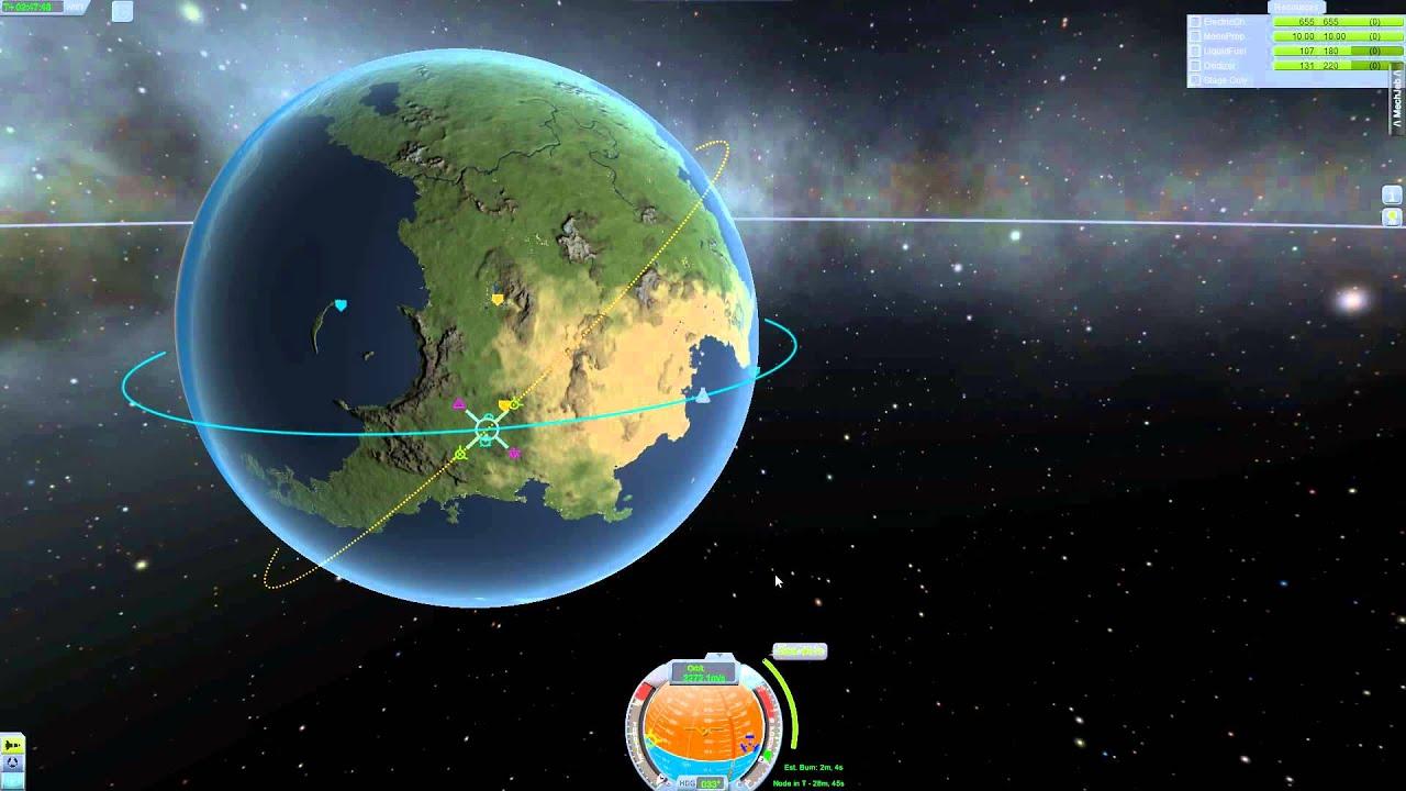 Ksp 0 23 Tutorial Basics 08 Exkurs Orbitale Manover Delta V Deutsch German Youtube