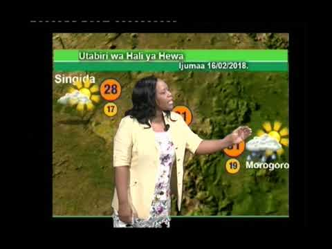 TANZANIA WEATHER FORECAST FOR  15/02/2018