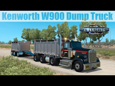 ats-mods---kenworth-w900-dump-truck-&-trailer