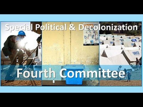 Special Political and Decolonization Committee (Fourth Committee) - Promo video