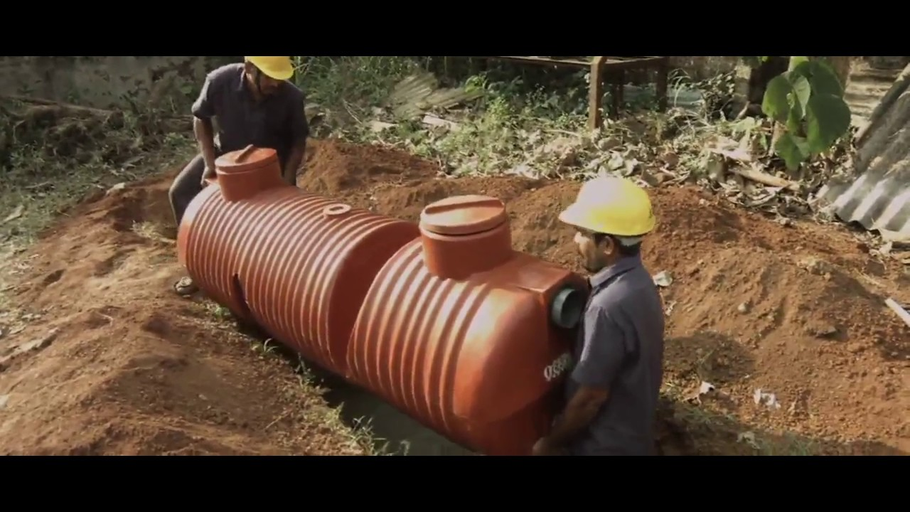 How To Install Ocean Plastic Septic Tank Youtube