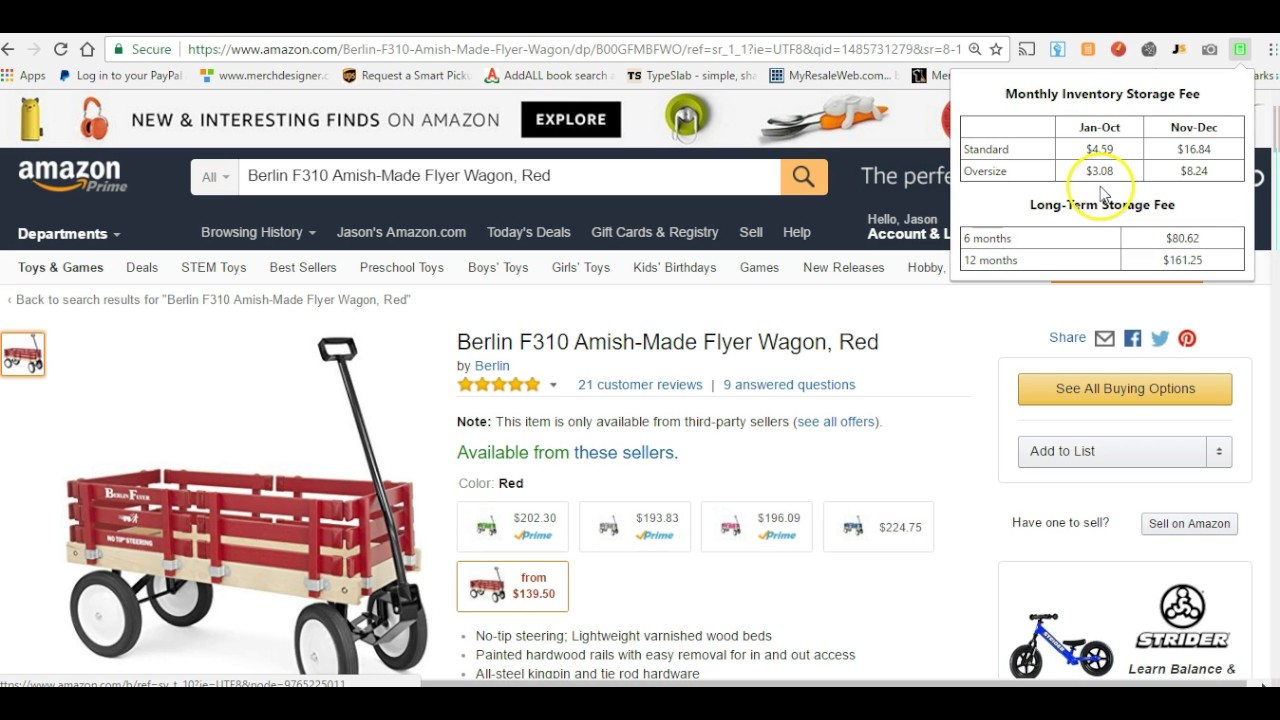 amazon fba chrome extension