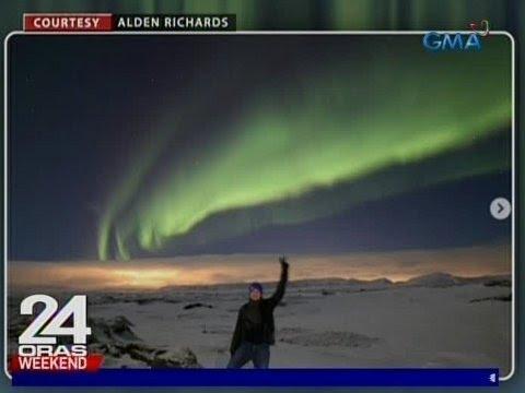 24 Oras: Alden Richards, nakita ang Aurora Borealis sa kaniyang solo travel sa Iceland