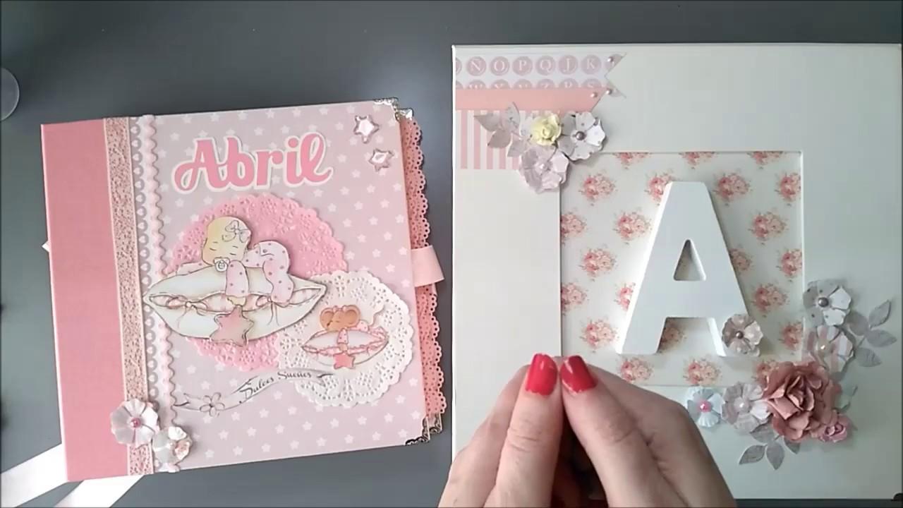 Lbum beb con caja a juego scrap scrapbooking youtube - Cajas decoradas para bebes ...