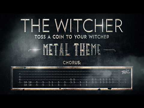 Toss A Coin To Your Witcher - How To Play On Guitar - Metal Theme