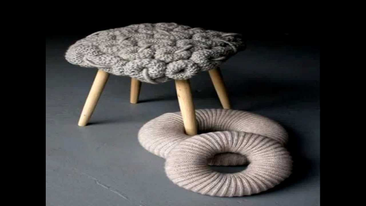 Knitted Stools Design By Claire Anne Ou0027Brien   YouTube