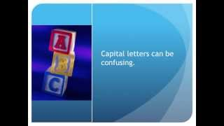 Capital Letters in Police Reports
