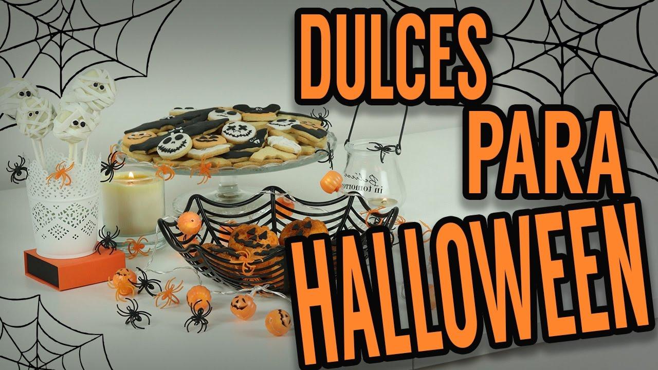 dulces de halloween faciles