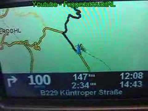 Car Navigation In Plane Goes Crazy