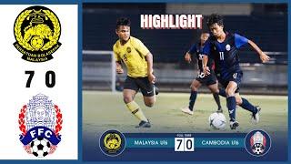 U16 Malaysia vs Cambodia 7-0 - Highlights AFC U16 CHAMPIONSHIP 2019