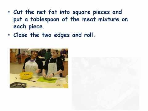 Shieftalies - starter dish in Cyprus cuisine