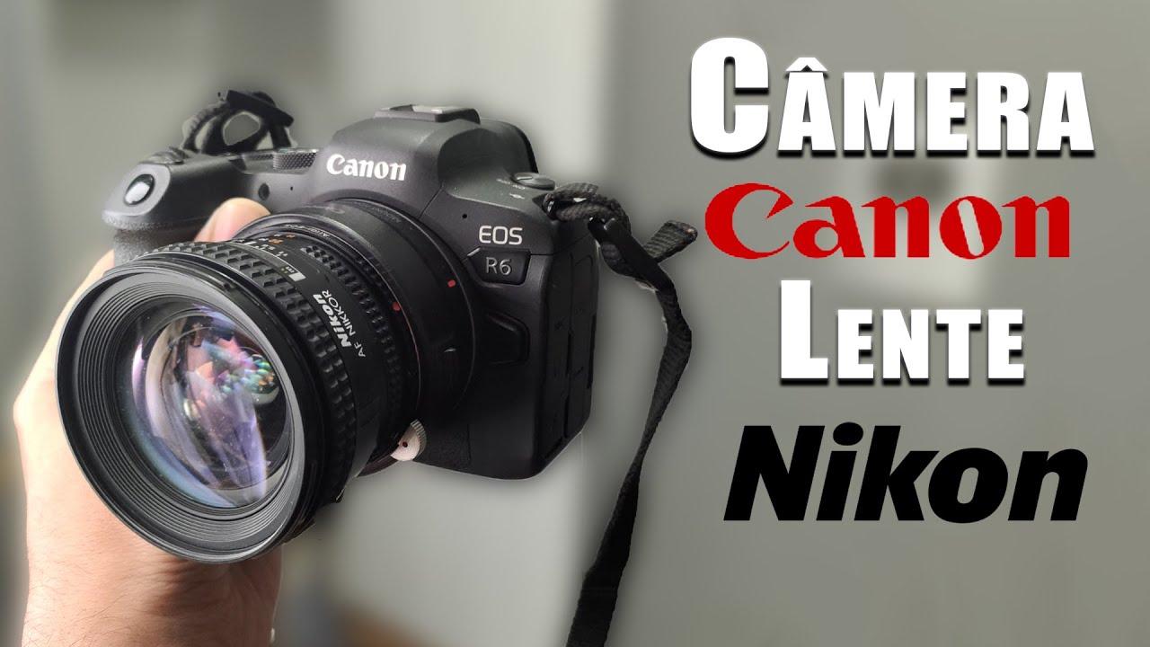 Câmera CANON com Lente NIKON (fotografei o prédio mais alto de SP)