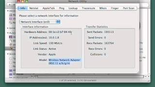 Mac OS X Core Networking and Network Troubleshooting