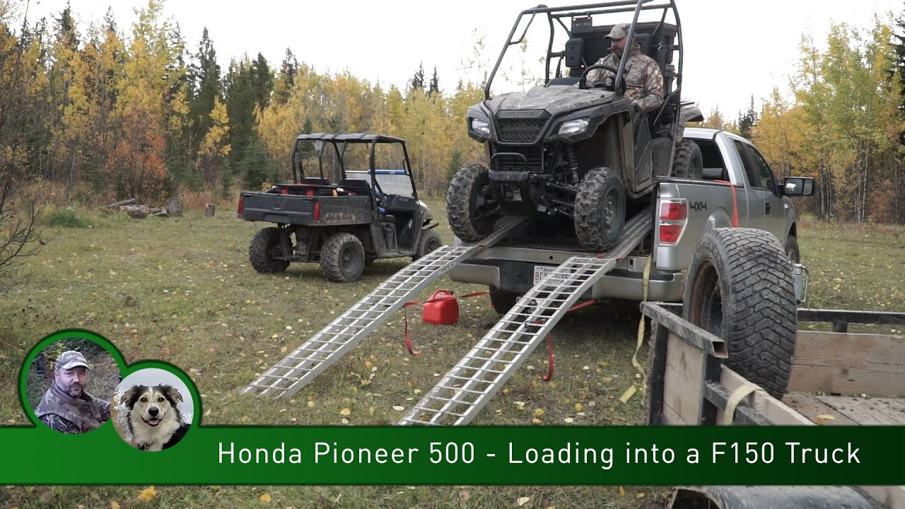 Honda Pioneer 500 Loading Into A F150 Truck Box Youtube