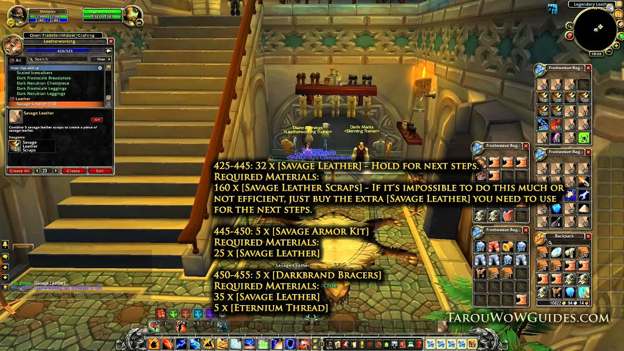 how to level leatherworking 1 525 fast easy w out hassle world rh youtube com WoW Profession Leveling Guide 1-110 Leveling Guide WoW