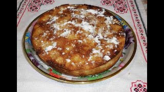 Бисквитный пирог «Гости на пороге»   Бісквітний пиріг з яблуками   Домашняя выпечка
